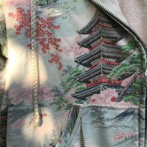 Lucky Brand printed zip hoodie